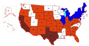 electric gas deregulated map