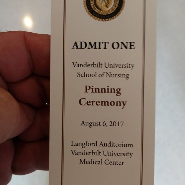 Can't keep them all down on the farm. Someone is getting their nurse practitioner pin & master's degree today! Way to go