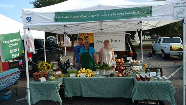 Good morning from Poplar Head farmers market in beautiful historic  downtown Dothan!  We have some visiting farm help today. Stop by and say hi to Katie and Jacob!