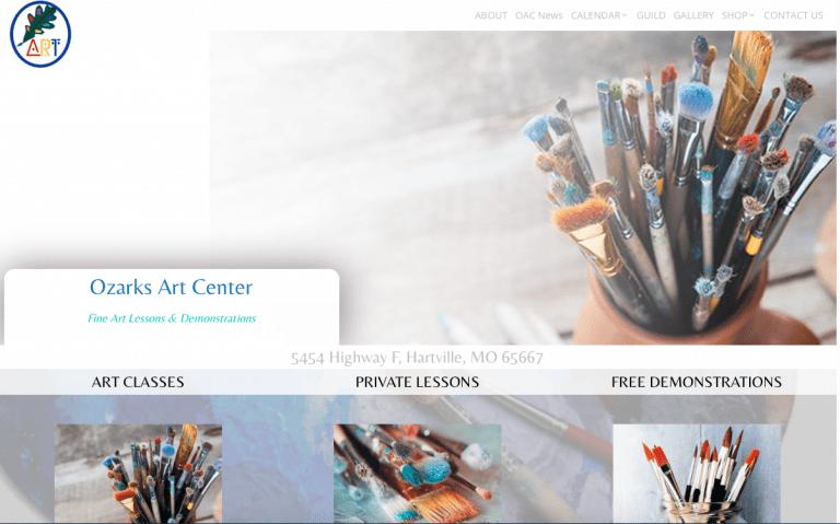 Avalon Web Designs | Professional Website Design & Marketing Services for OzarksArtCenter.com