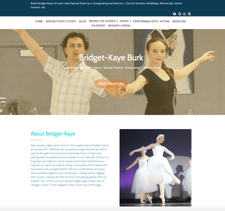 Avalon Web Designs | Professional Website Design & Marketing Services for BridgetKayeBurk.com