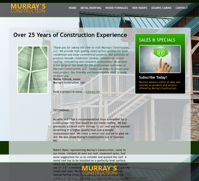 Avalon Web Designs | MurraysConstructionLLC.com