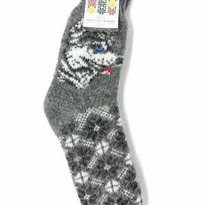 Vilnonės kojinės su vilku PK-1