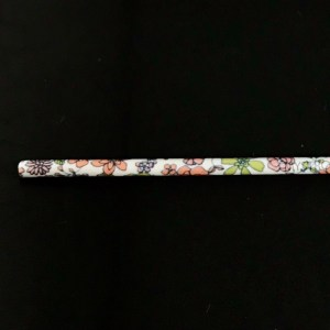 Flower garden pink color ceramic ecology straw.