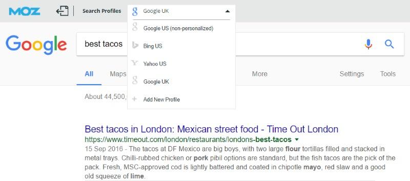 moz toolbar search profiles