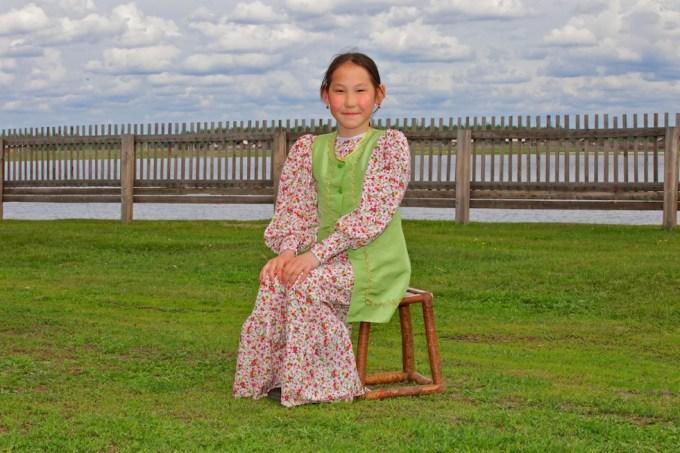 11 year old Artist from Taatta, Yakutia, Siberia. Photo © 2013 Galya Morrell