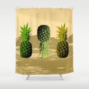 alex van rossum - pineapple two - shower curtain