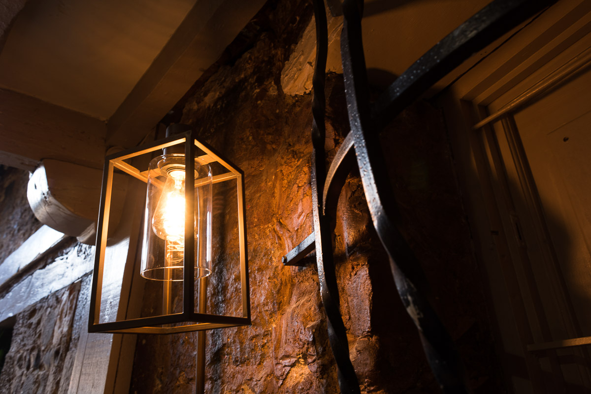 Handcrafted lantern hangs in the Rainbow Pub Eastbourne