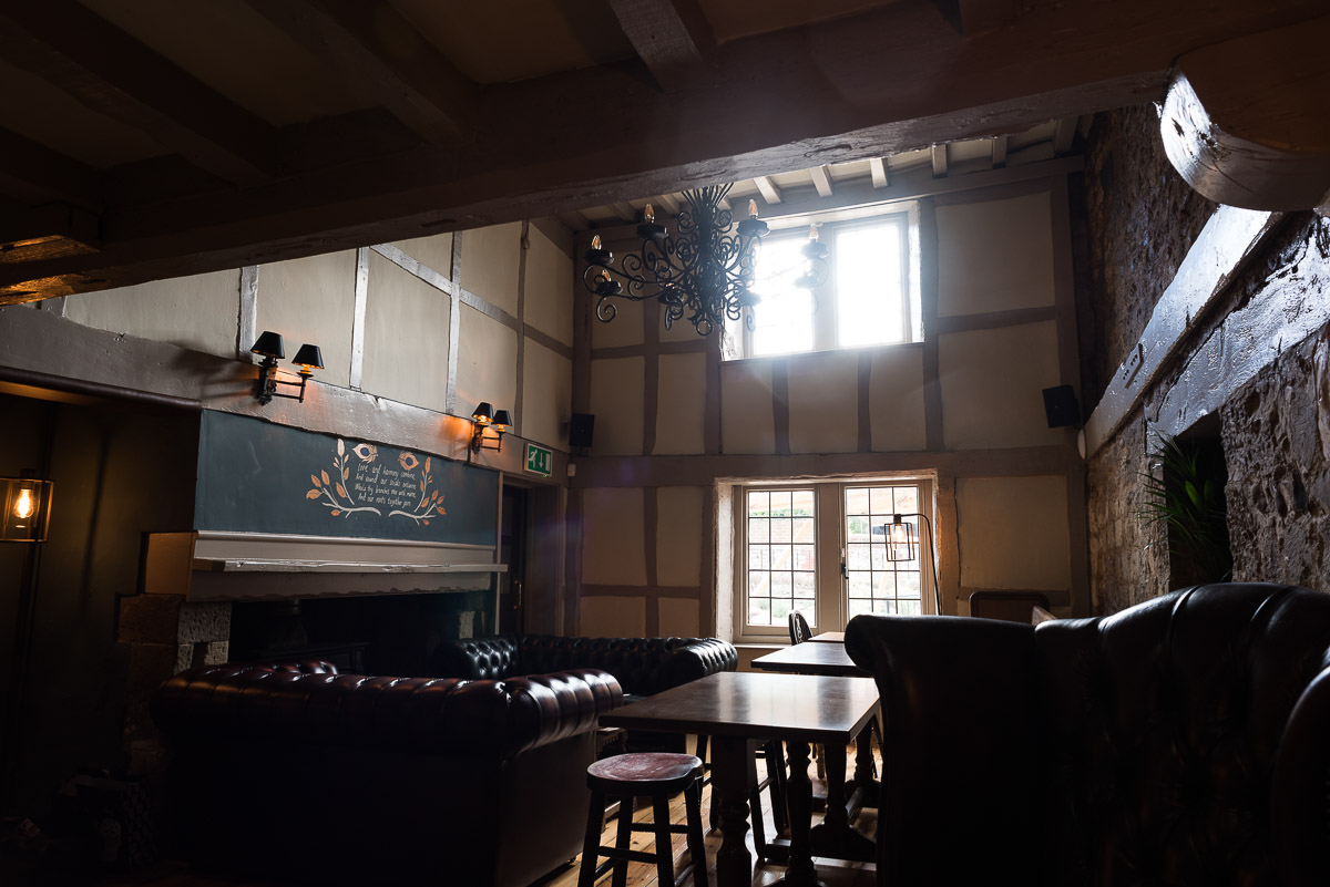 Rainbow Pub Eastbourne photography for their website - this is the great hall dining room