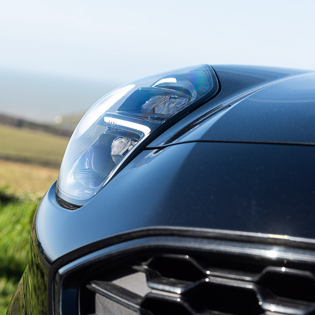 Car sales franchise photography Ford Puma Headlight detail