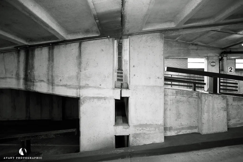 New Bailey NCP. architectural photography, Phil Burrowes, Avant Photographic, Car Parks, Beauty of Car Parks, architecture photographer, construction photographer, UK photographer, London photographer,