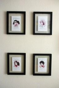 Pink Ladies Script Prints