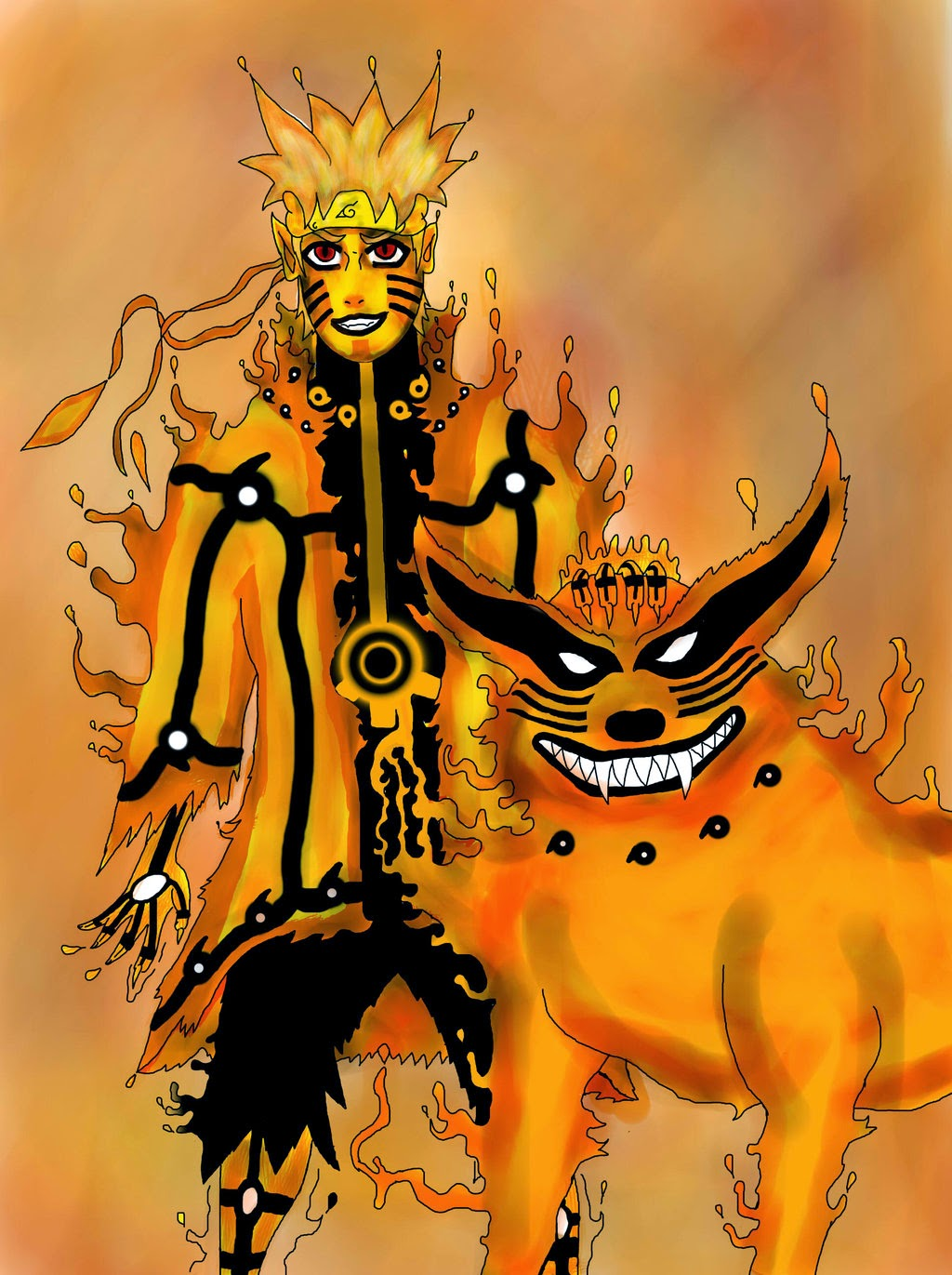 Naruto Kurama Mode Wallpaper Hd