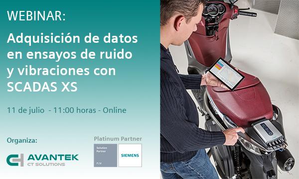 """Webinar gratuito: """"Adquisición de datos en ensayos de ruido y vibraciones con SCADAS XS de Siemens"""""""