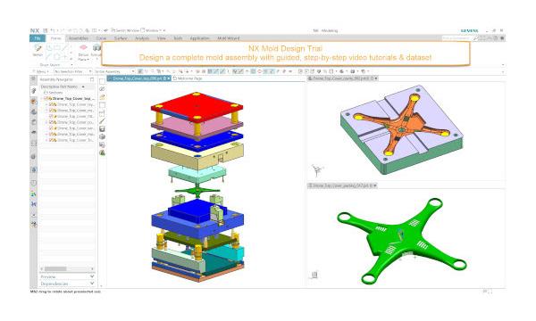Pruebe NX Mold Design gratis