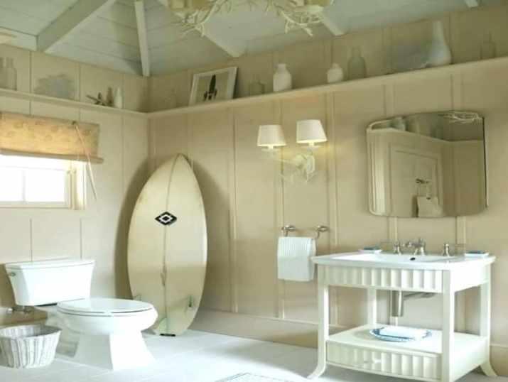 Wood Bathroom Ceiling for Vintage Nuance