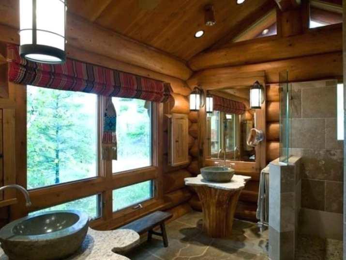 Log Bathroom Ceiling