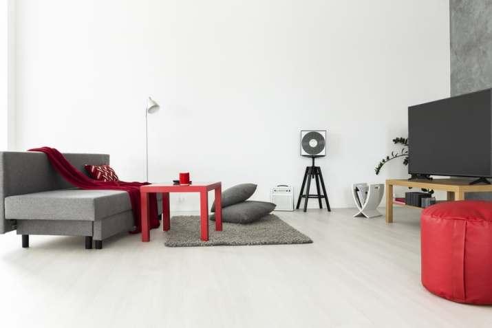 Spacious Grey Living Room