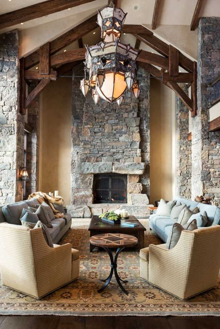 Lavish Rustic Living Room