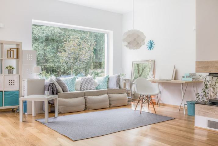 Clear, Neutral Living Room
