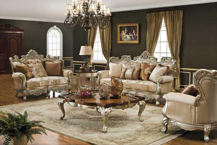 Classic Glam Living Room.
