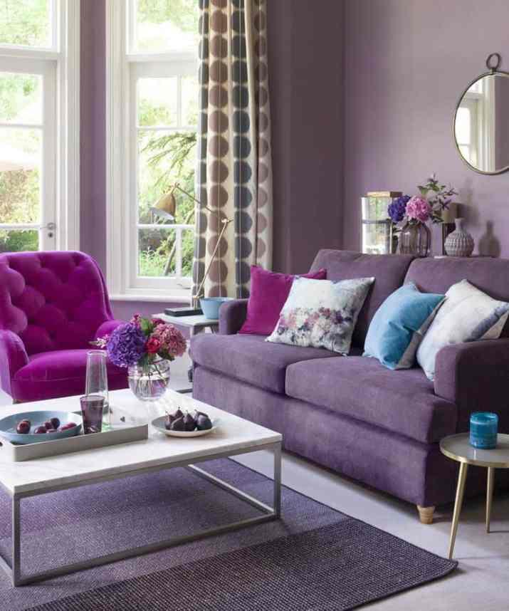 Soft Purple Living Room. Source: Pinterest