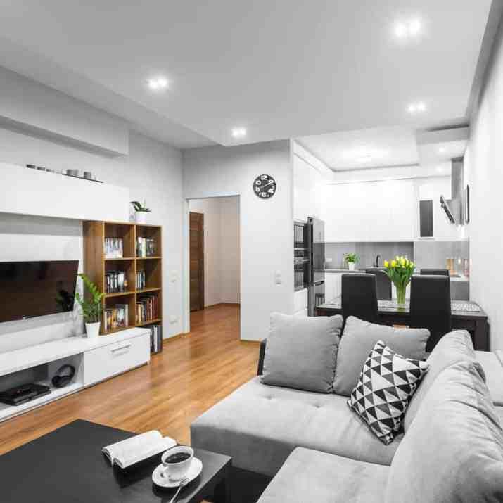 Open Shelf As Living Room Storage