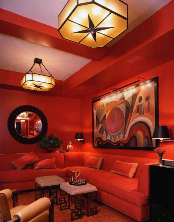 Nearly-All-Orange Living Room