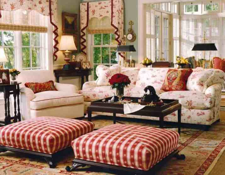 Pretty French Country Living Room.