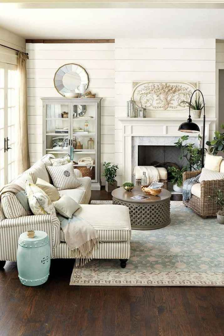 Relaxed French Country Living Room