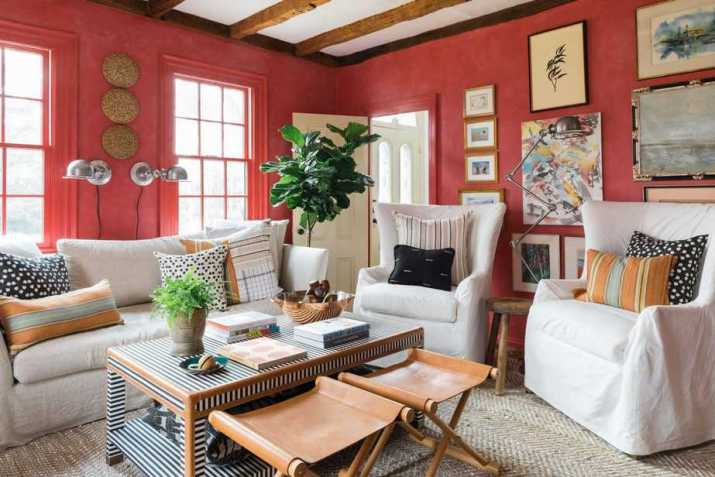 Resourceful Red Living Room