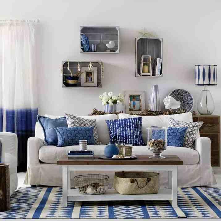 Subtle Coastal Living Room. Source: idealhome.co.uk