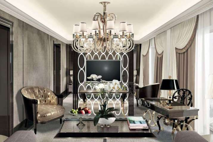 Upscale Glam Living Room