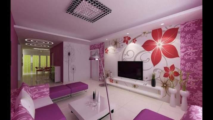 Floral Purple Living Room. Source: Yidaho.com