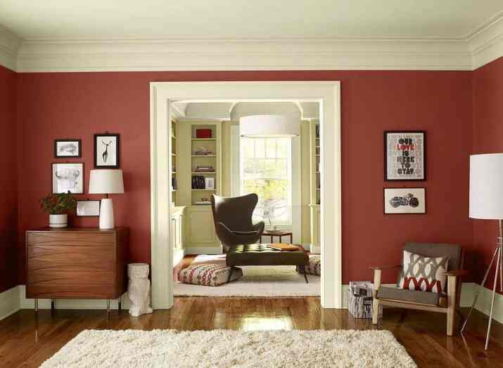 Hospitable Red Living Room