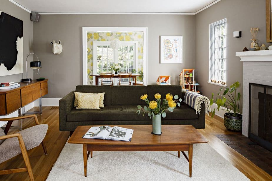 Complete, Eclectic Living Room
