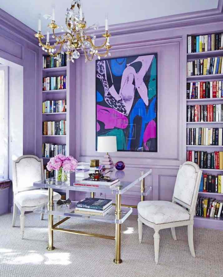 Living Room with Purple Storage. Source: Pinterest