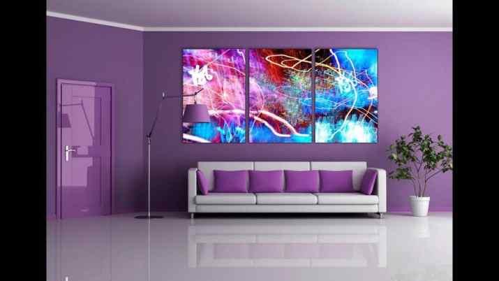Sleek Purple Living Room. Source: YouTube.com