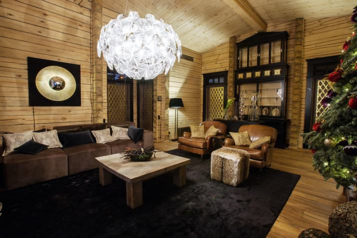 Rustic Touch in Elegant Living Room