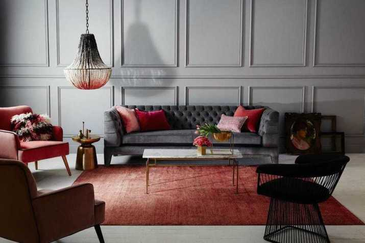 Accent Wall Paneling in Living Room
