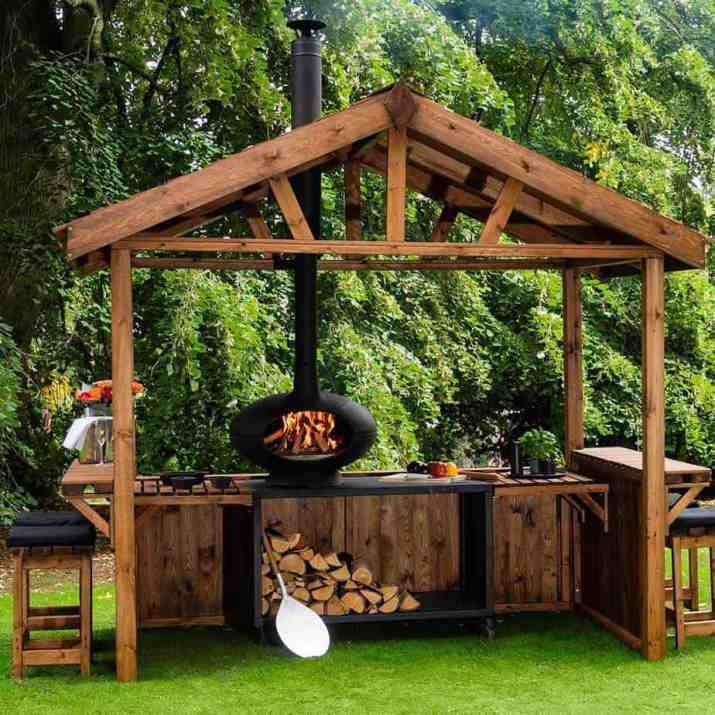 Wooden Country Outdoor Kitchen