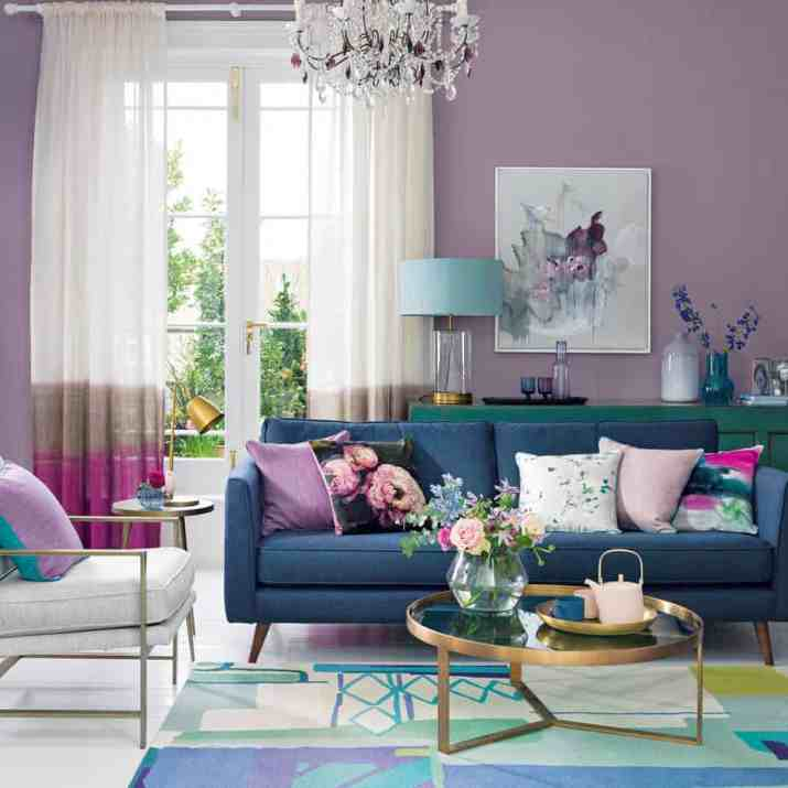 Colorful Living Room Curtain