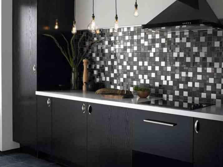 Minimalist Dark Kitchen Cabinet