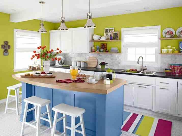 Colorful Coastal Kitchen