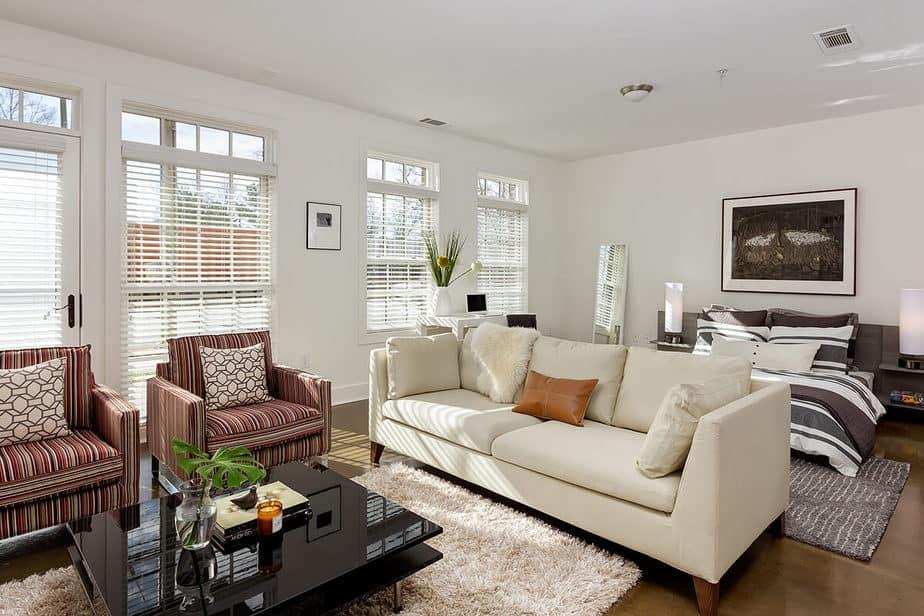 Comfortable Living Room Bedroom Combo Model