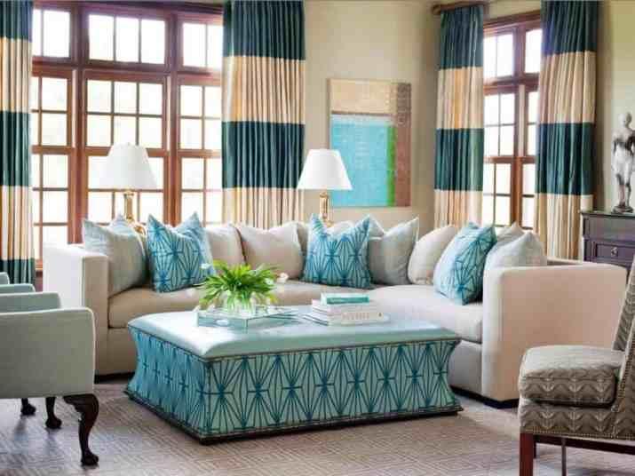 Dual Tone Living Room Curtain