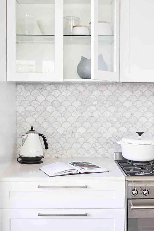 Cute, Marble Kitchen Backsplash
