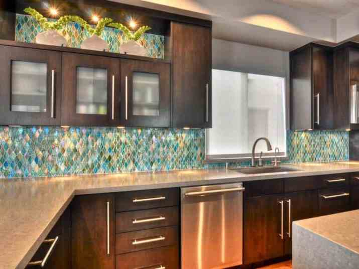 Carefree, Mirrored Kitchen Backsplash