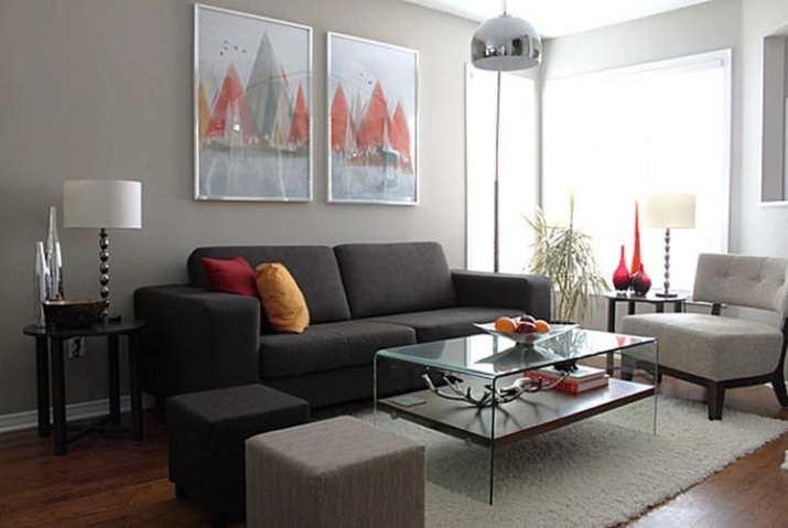Formal Grey Living Room
