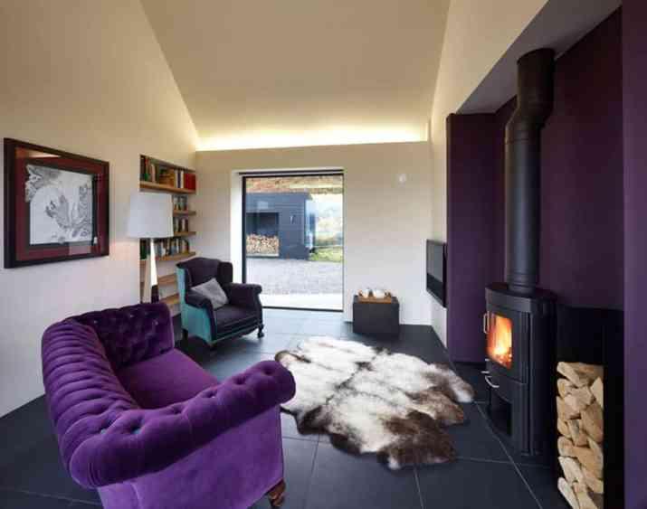 Simple Purple Living Room
